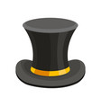 black top hat classic cylinder vector image