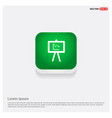 business graph icon green web button vector image vector image
