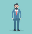 business man with no money vector image