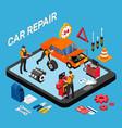 car repair concept vector image vector image