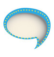 chat bubble of communication dialogue vector image vector image