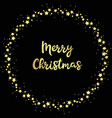 christmas circle stars with greeting vector image vector image