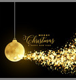 christmas festival greeting with xmas ball and vector image