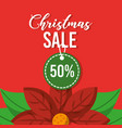 christmas sale tag discount season marketing vector image