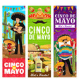 cinco de mayo mexican holiday fiesta party banners vector image vector image