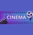 cinema concept banner cartoon style vector image vector image