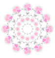 colored circular round wedding romantic mandala vector image vector image