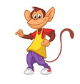 cool monkey dancing in modern clothes vector image vector image