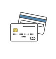 credit card single line icon on white background vector image vector image