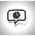 Curved diagram message icon vector image vector image