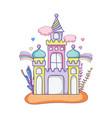 cute fairytale castle in the landscape vector image vector image