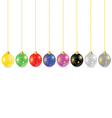 decorative ball in different color vector image vector image