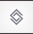 design letter s in square style vector image vector image