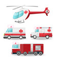 emergency vehicles isolate collection set vector image vector image
