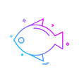 fish icon design vector image