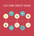 flat icons gear coin financing and other vector image vector image