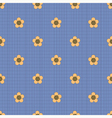 Floral pattern on a dark blue background vector image vector image