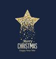 golden christmas star vector image