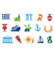 greece stickers vector image vector image