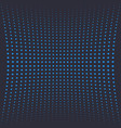 halftone background with blue dots on dark vector image