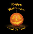 halloween black background with pumpkin vector image vector image