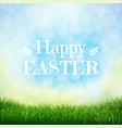 happy easter card with grass vector image vector image