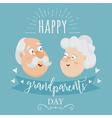 happy grandparents day poster vector image vector image