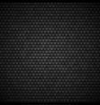 hexagonal background dark metallic texture vector image vector image