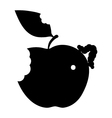 isolated apple worm icon vector image