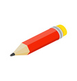 Isometric flat pencil on white background vector image vector image