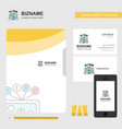 laptop business logo file cover visiting card and vector image vector image