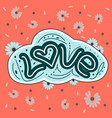 love drawn letters with trendy pastel colors vector image vector image