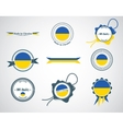 Made in Ukraine - seals badges vector image
