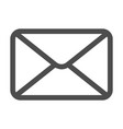mail icon envelope sign vector image vector image