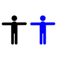 man with arms outstretched icon vector image