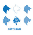 map of montenegro - set of silhouettes vector image