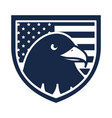 memorial day eagle in shield with flag american vector image