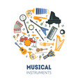 musical instruments banner template with seamless vector image vector image