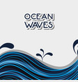 ocean waves with natural plants design vector image vector image