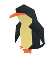 origami penguin icon cartoon style vector image