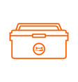 outline tool box storage drawing graphic vector image