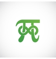 Pi Symbol with Infinity Sign Abstract Icon vector image