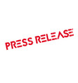 press release rubber stamp vector image vector image