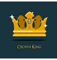 Queen or king gold diadem royal crown vector image
