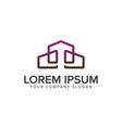 real estate logo line modern design concept vector image