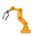 realistic 3d detailed automated yellow robotic vector image vector image
