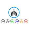 respiratory system rounded icon vector image