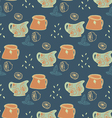 Retro Pitches seamless pattern vector image vector image