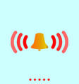 ringing bell set it is color icon vector image vector image