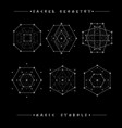Sacred geometry signs alchemy religion